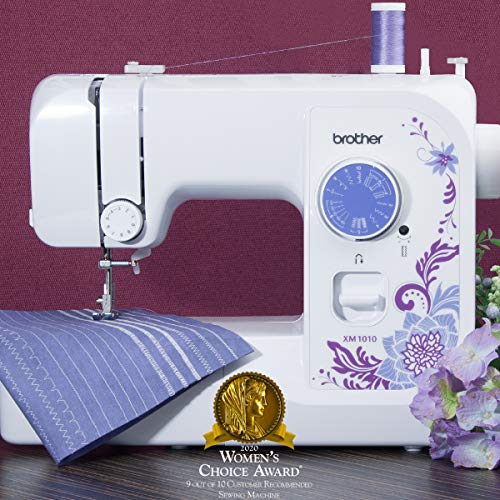 Brother Machine, XM1010 10 Built-in Stitches, 4 Included Sewing Feet