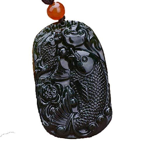 ZHIBO Colgante de tinta cada año más que el collar de jade masculino