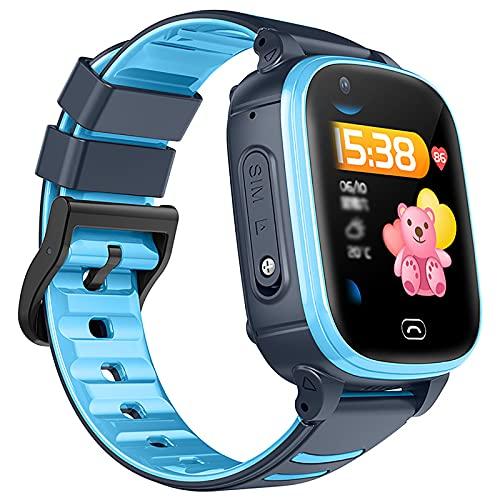 FVIWSJ Pulsera Actividad Inteligente Reloj Inteligente para Niños Niñas Mujer, Impermeable IP67 Deportivo Smartwatch Sueño Contador de Caloría,Azul