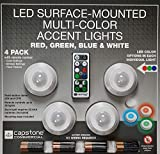 Capstone LED Surface Mounted Multi-Color Accent Lights, 4 Pack and Remote Control