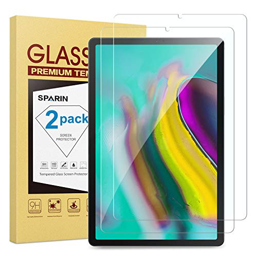 [2-Pack] Galaxy Tab S5e / Tab S6 Screen Protector, SPARIN Tempered Glass Screen Protector for Samsung Galaxy Tab S5e / Tab S6 10.5 Inch with High Response/Scratch Resistant