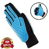 Pet Grooming Glove - Gentle Deshedding Brush Glove - Efficient Pet Hair Remover