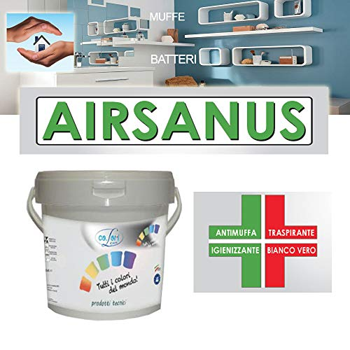 PITTURA Antimuffa - Igienizzante - Sanificante *AIRSANUS* per INTERNI da 5-14 L (5 Litri)