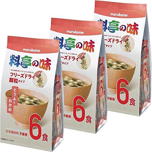 マルコメ 料亭の味 お徳用フリーズドライ とうふとわかめ 顆粒タイプ 6食 ×3個