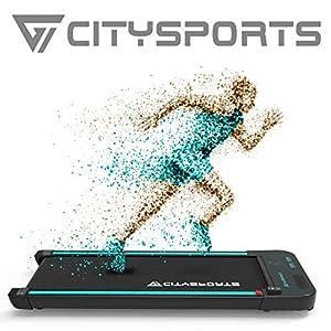 immagine di CITYSPORTS Tapis roulant Elettrico Motore 440W Treadmill, Altoparlanti integrati Bluetooth, velocità Regolabile, Schermo LCD e contacalorie, Ultra Sottile e Silenzioso, destinato a casa/Ufficio