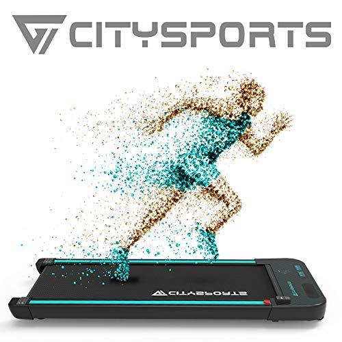 CITYSPORTS Tapis roulant Elettrico Motore 440W Treadmill, Altoparlanti integrati Bluetooth, velocità Regolabile, Schermo LCD e contacalorie, Ultra Sottile e Silenzioso, destinato a casa/Ufficio