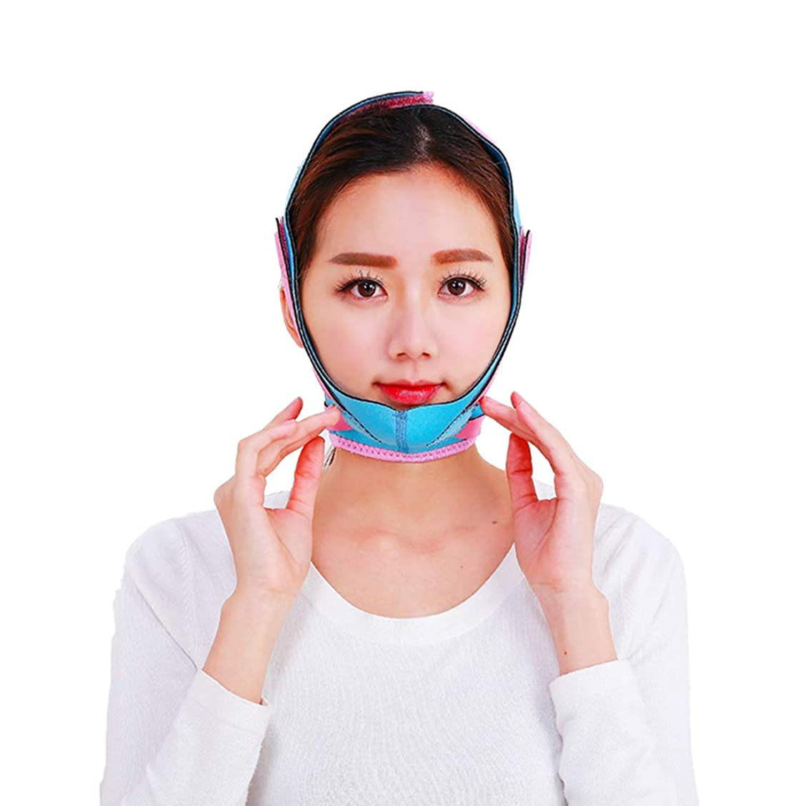 り断言する二年生顔-リフティングマスクは、たるみの筋肉や引き締まった肌の弾力性を和らげるために輪郭を強化する V フェイス包帯