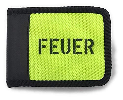 Geldbörse Portemonnaie aus Feuerwehrschlauch Neon Grün Geldtasche Geldbeutel
