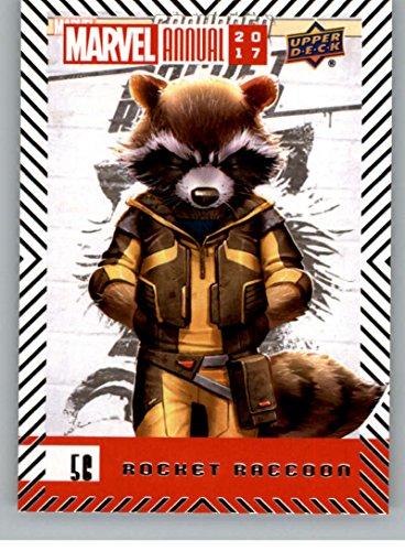 2018 Upper Deck Marvel Annual #56 Rocket Raccoon Marvel Trading Card Rocket Raccoon Superhero