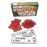 Juego De Mesa De Bingo   ¡El Juego Italiano De Azar Para Familiares, Amigos Y Grandes Grupos De Hasta 24 Jugadores   Incluye 90 Cartones De Bingo, 4 Papeles De Bingo, 40 Fichas De Bingo De Plástico
