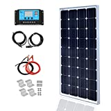 Módulo solar monocristalino de 100 vatios y 18 V Kit de 12 v con enchufe MC4 Controlador 10A para caravana camper Cargador de 12 v
