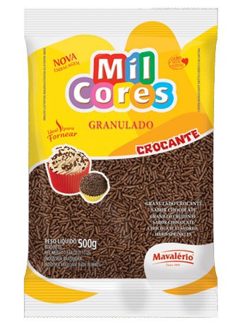 Chocolate Granulado Chocolate Sprinkles 17.64oz (500gr) Mil Cores