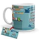 Kembilove Taza de Café del Mejor Cajero del Mundo – Taza de Desayuno para la Oficina – Taza de Café y Té para Profesionales – Tazas de Cerámica de Profesiones – Idea de Regalo Original