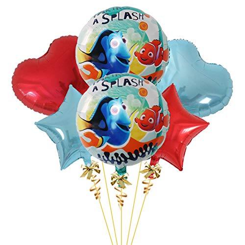 LEILEIMY Globo 6pcs 18 Pulgadas Spiderman Foil Foil Globos 3D Baby Shower Cumpleaños Decoración Decoración Niños Juguetes Globo Festival (Ballon Size : 18inch, Color : 5)