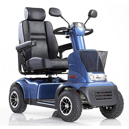 Best Prices! Afikim - Afiscooter C4 Breeze - Mid Size Mobility Scooter - 4-Wheel - Blue