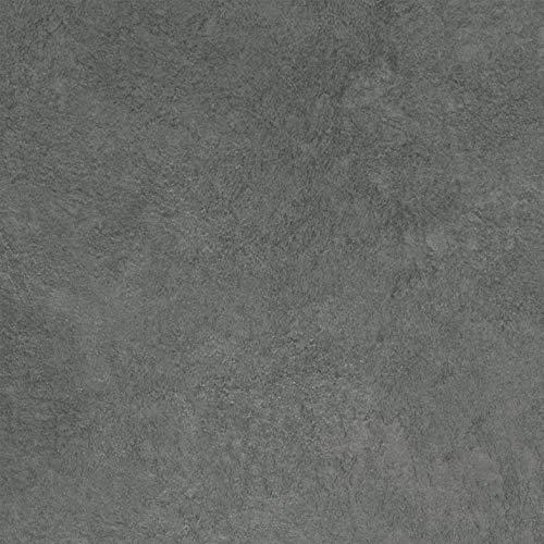 PVC Bodenbelag Fliesenoptik Mittelgrau | Vinylboden in 3m Breite & 5m Länge | Fußbodenheizung geeignet | Vinyl Planken strapazierfähig & pflegeleicht | Fußbodenbelag Gewerbe/Wohnbereich