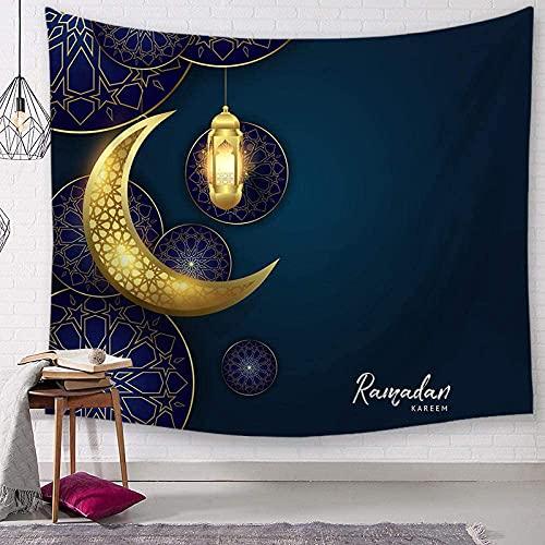 GDFEH Tapice Tapiz Decoración De Ramadán Tapiz Adorno Fondo De TV Tapiz De Paisaje De Pared para Habitación (Color : D, Size : 150 * 130cm Thick Flannel)