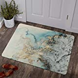 Lahome Marble Pattern Area Rug - 2' X 3' Faux Wool Non-Slip Area Rug Small Accent Distressed Throw Rugs Floor Carpet for Door Mat Entryway Bedrooms Laundry Room Decor (2' X 3', Blue)