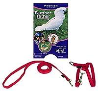 PetSafe (Premier) 鳥用ハーネス フェザーテザー L レッド(リード付き)