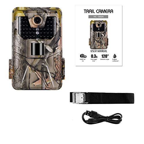 AAERP Wildcamera, fotoval, 12 MP, 1080p met infrarood nachtzicht, 20 m, IP66 spray, waterdicht, voor outdoor, wildlife, jacht en huisbeveiliging, bewegingsmelder