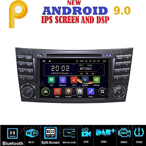 Android 9.0 GPS DVD USB SD WiFi BT Radio 2 DIN Navegador Mercedes Clase E W211 / Mercedes Clase G W463, Mercedes Clase CLK W209, Mercedes Clase CLS W219, E200, E220, E240, E270, E280, E300