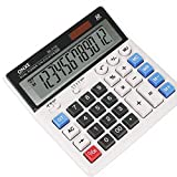 ONXE Desktop Calculator with 12 Digit Large LCD Display and Sensitive Button,Solar and Battery Dual Power, Basic Financial Standard Function Calculators for Office,Home,School (DC2133)