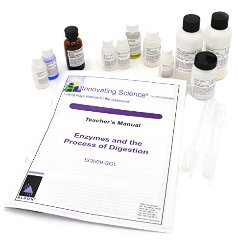Enzymes and The Process of Digestion Kit: Small Group Learning by Innovating Science (Materials for 5 Groups of Students)