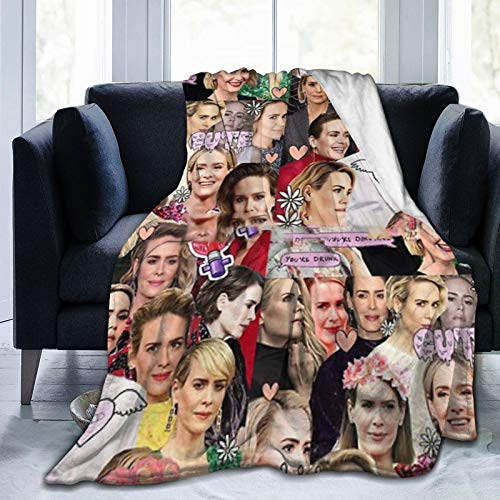 Sarah Paulson Collage Soft and Comfortable Warm Fleece Blanket for Sofa, Bed, Office Knee pad,Bed car Camp Couch Cozy Plush Throw Blankets