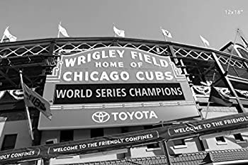 Chicago Cubs print black and white photo Wrigley Field sign picture 5x7 to 30x45  paper or canvas