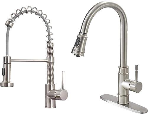 wholesale OWOFAN Brushed outlet online sale Nickel Kitchen outlet sale Sink Faucets Product Bundles outlet online sale