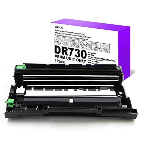 XZMHX Compatible Drum Unit Replacement for Brother DR730 DR-730 for HL-L2350DW HL-L2390DW HL-L2395DW HL-L2370DW DCP-L2550DW MFC-L2710DW MFC-L2730DW MFC-L2750DW HL-L2370DWXL MFC-L2750DWXL(1 Pack)