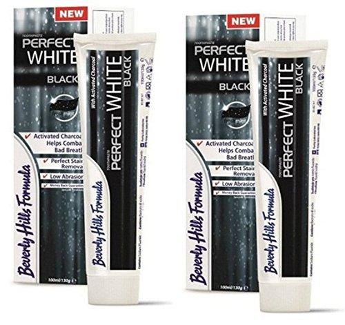 2 x Beverly Hills Formula Perfect White Zahncreme BLACK 100ml (= 200ml)