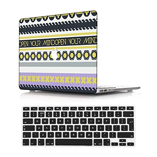 NEWCENT MacBook Pro 13' Funda,Plástico Ultra Delgado Ligero Cáscara Cubierta EU Teclado Cubierta para MacBook Pro 13 Pulgadas con Touch Bar Touch ID(Modelo:A1708/A1706/A1989/A2159),Nacional 151