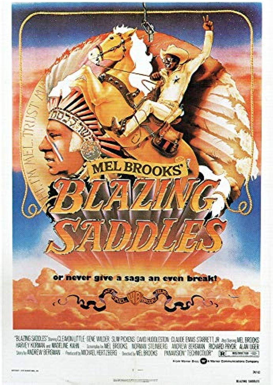 Blazing Saddles  1974 Poster Canvas Picture Art Print Premium Quality A0 A1 A2 A3 A4 (A0 Canvas (30 40))