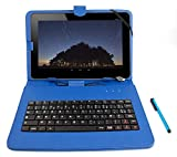 DURAGADGET Etui 7 Pouces Bleu + Clavier intégré AZERTY pour Tablette CDiscount CDisplay écran 7 Pouces par Haier, Android 4.4 KitKat + Stylet Tactile Bonus