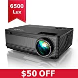 YABER Native 1080P Projector 6500 Lux Upgrad Full HD Video Projector (1920 x 1080) Support 4k and...