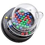 Kisangel Máquina de Bingo con Bolas de Bingo Mini Máquina de Juegos de Lotería de Mesa Juegos de Bingo de Mesa Máquina de Bote para Regalos de Fiesta (Sin Batería)