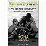 HJZBJZ Roma Movie Alfonso Cuarón Film Love Poster and Prints Arte de la Pared Pintura en Lienzo Impresiones en la Pared Decoración del hogar -20X30 Pulgadas Sin Marco