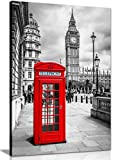 Cuadro de pared con diseño de cabina telefónica roja de Londres (30 x 20)