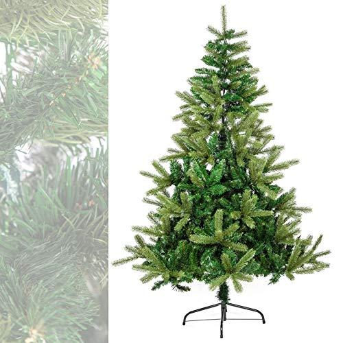 MACOShopde by MACO Möbel Künstlicher Weihnachtsbaum 210 cm hoch PE Spritzguss/PVC (Polychlorid) Mix - Plastik Tannenbaum mit Metall-Ständer