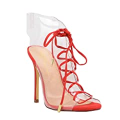 f0747ced2c6 Olivia Jaymes Women s Dress Sandal Clear PVC Gladiator Laced .