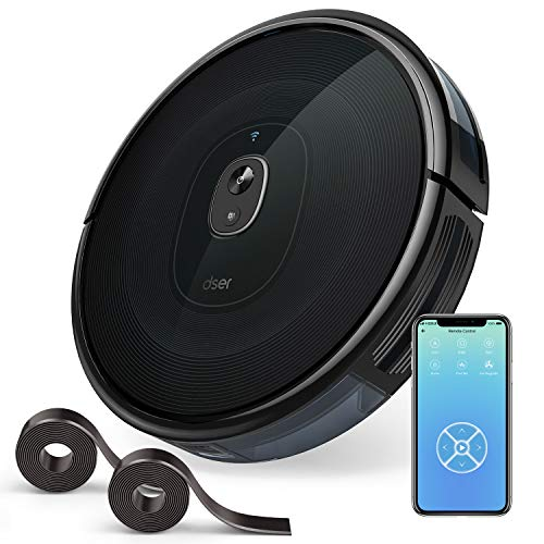 Check Out This dser Robot Vacuum Cleaner, 1600Pa Strong Suction, Wi-Fi Connected, 2 Boundary Strips,...