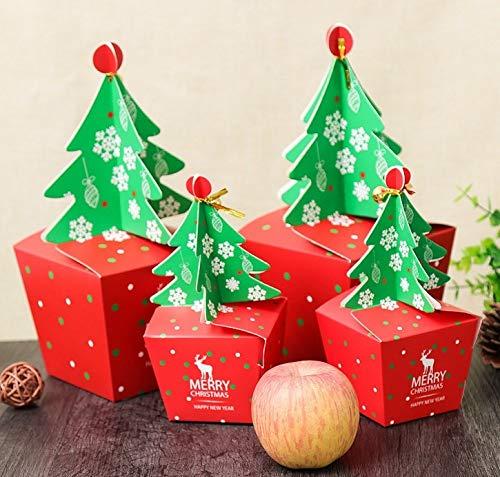 Kousen Houders - Merk 1 st Kerstboom Papier Appel Snoep Chocolade Taartdozen Cadeautas Xmas Festival Favors - Houders Kousen Kousen Cadeauhouders Papier Wrap Chocolade Wrapper 65mm 60mm