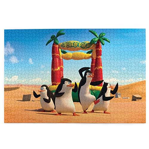 Best-design Rompecabezas de Penguins Of Madagascar de 1000 piezas en la noche para adultos y familias