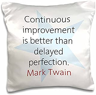 onepicebest Quotes Pillow Covers Quotes - Continuous Improvement is - 18x18 inch Pillow Case