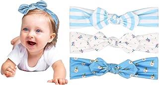 VCOSTORE Lot de 10 bandeaux élastiques pour bébé - Motif nœud - Pour bébé et enfant