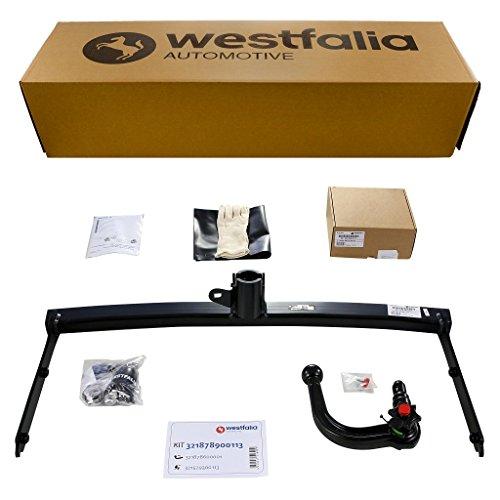 Westfalia Abnehmbare Anhängerkupplung - AHK für VW Polo / Polo Bluemotion / Polo GTI (BJ ab 04/2014) im Set mit 13-poligem fahrzeugspezifischen Westfalia Elektrosatz