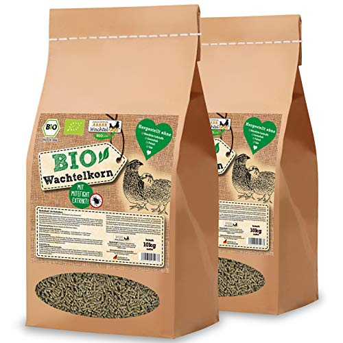 WachtelGold Bio-Wachtelkorn 20kg - Wachtelfutter Pellets - Bio Legekorn Biofutter