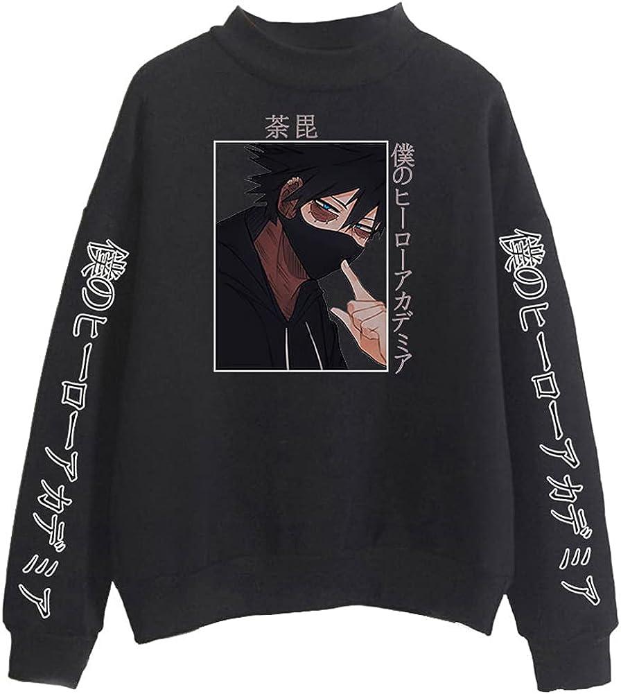 Women's My Hero Academia Dabi Hoodie Anime Round Neck Long Sleeve Casaul Sweatshirt Loose Pullovers Tops