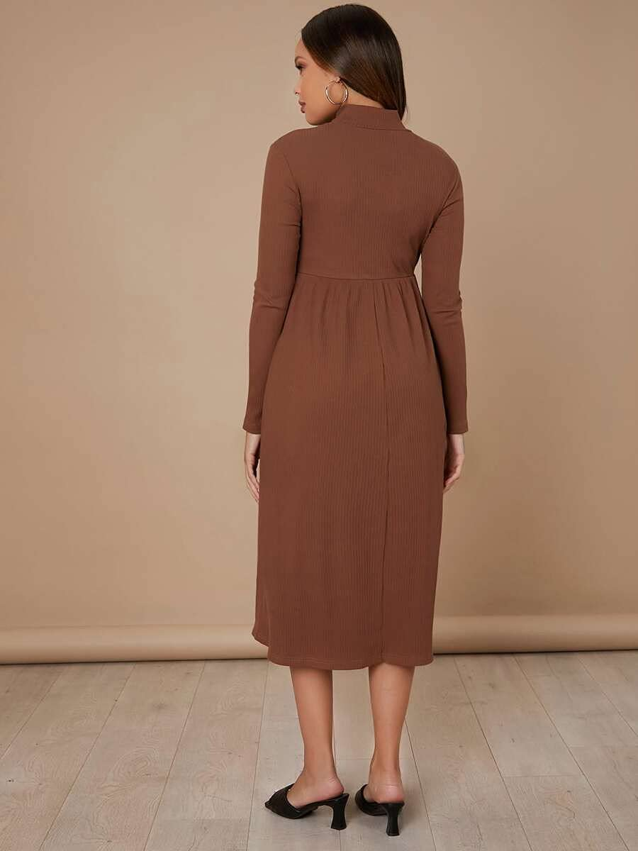 Max 89% OFF Limited price Shreem85 Maternity Dress Mock Solid Neck Color